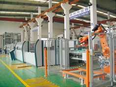 电梯层板机器人点焊码垛系统