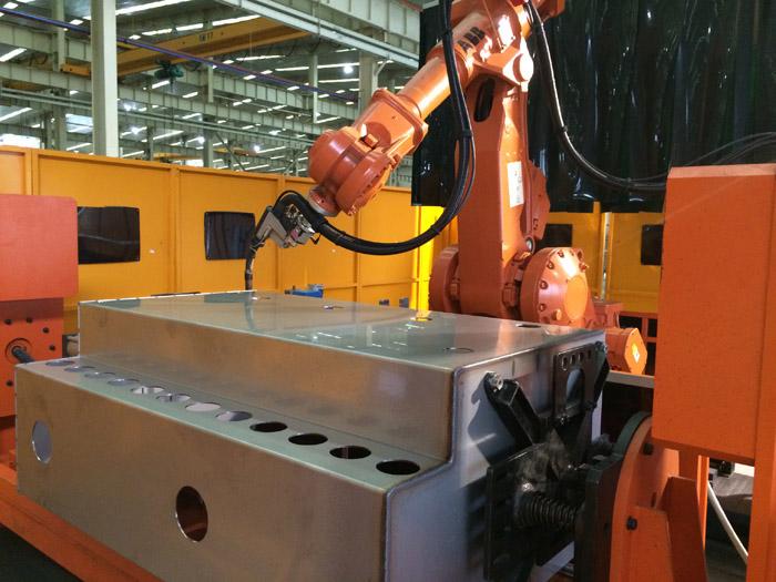 不锈钢充气柜机器人冷弧焊接系统